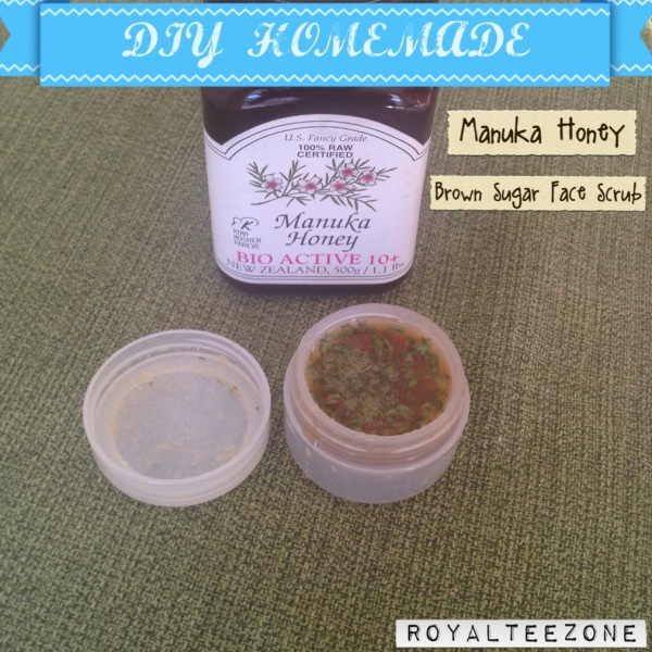 RoyalTeeZone - Manuka Honey Brown Sugar Facial Scrub